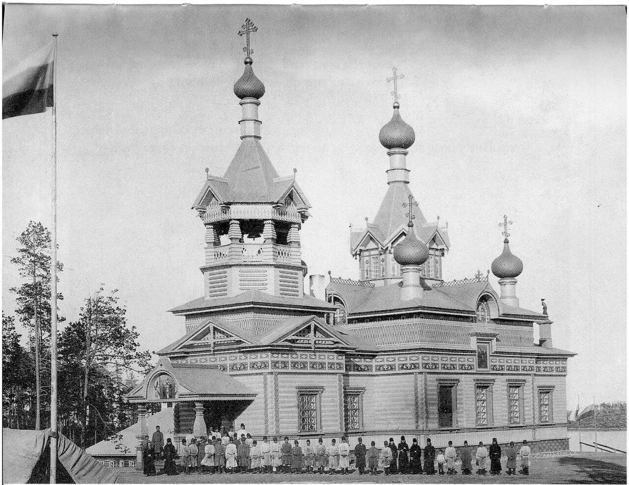 Белое море. Кондостров. Церковь во имя Святителя Николая Мирликийского Чудотоворца. 1908, июль