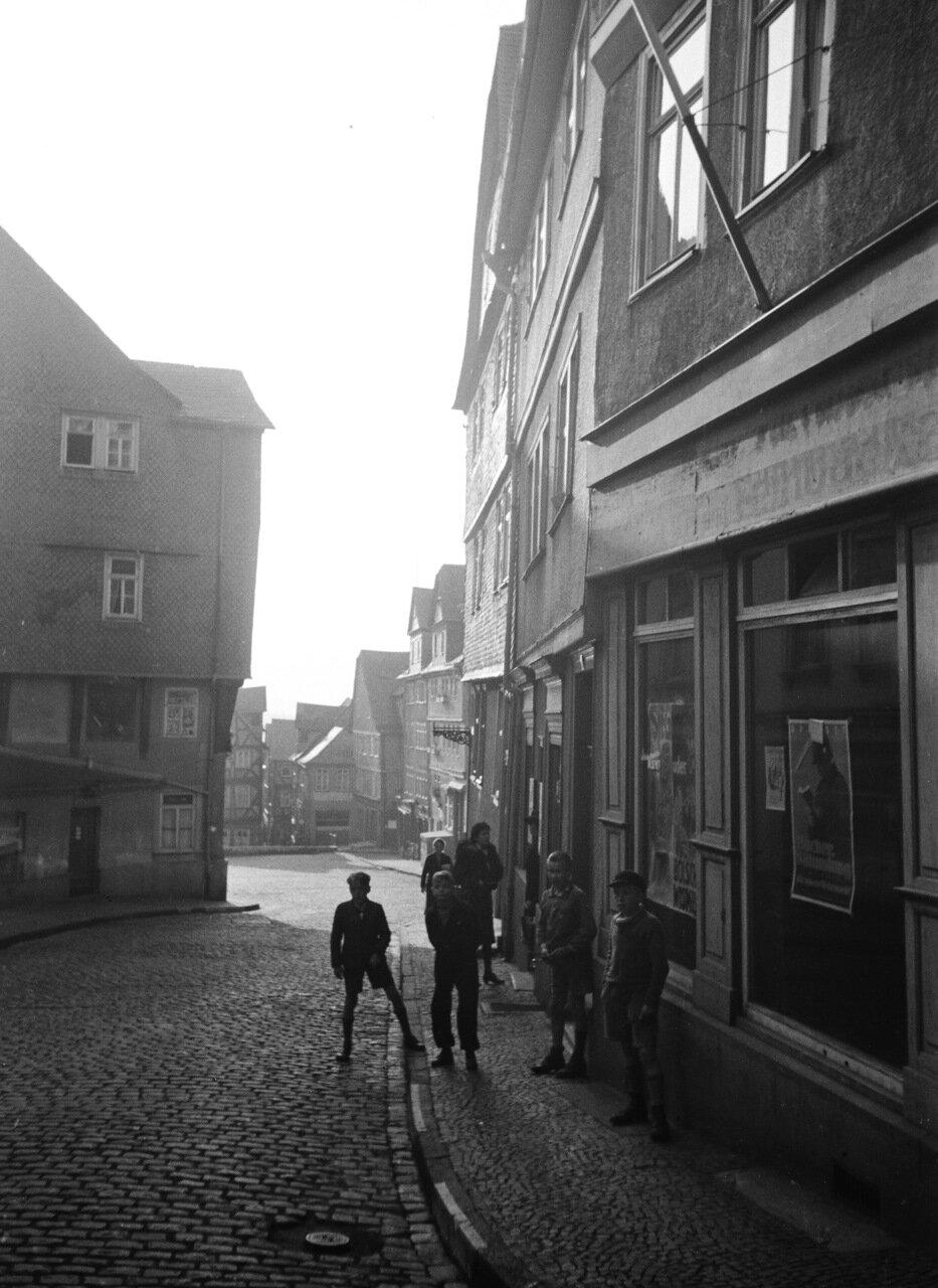 1942.  Вецлар, Обертоштрассе со стороны Корнмаркта