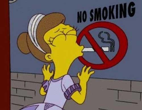 Открытки. Международный день отказа от курения. Симпсоны