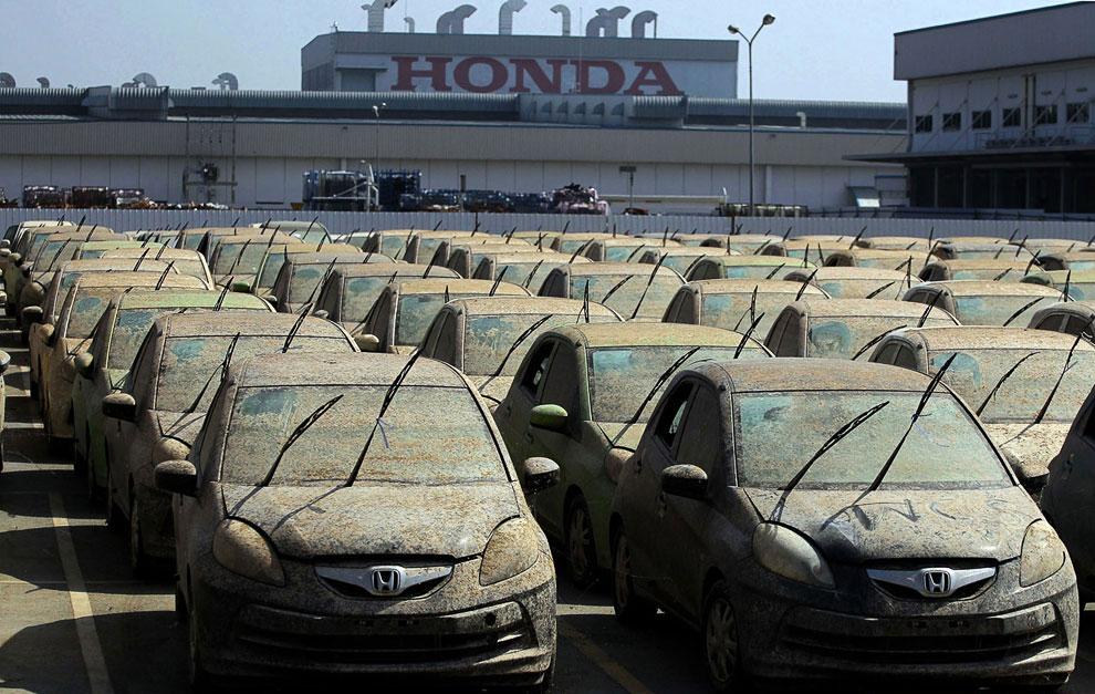 Утилизация автомобилей Honda после наводнения