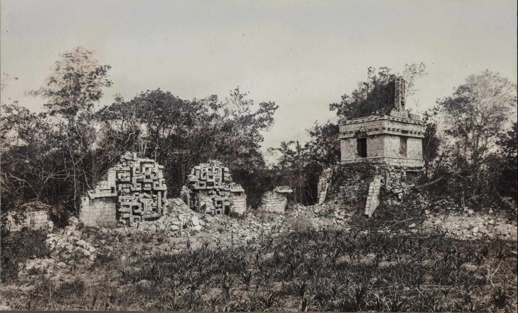 10. Здания III и V в руинах майя Хохоб