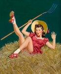 Девушка с вилами (Pin-Up with a Pitchfork)_53.3 х 43.2_д.,м._Частное собрание.jpg