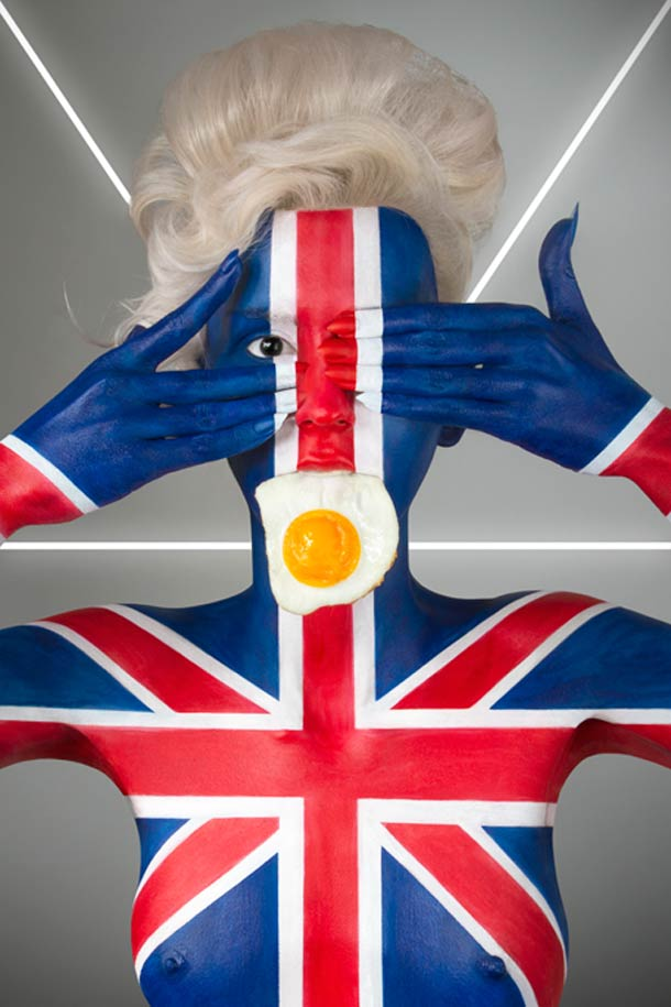 Fat Flag – Body Painting, Flags and culinary cliches