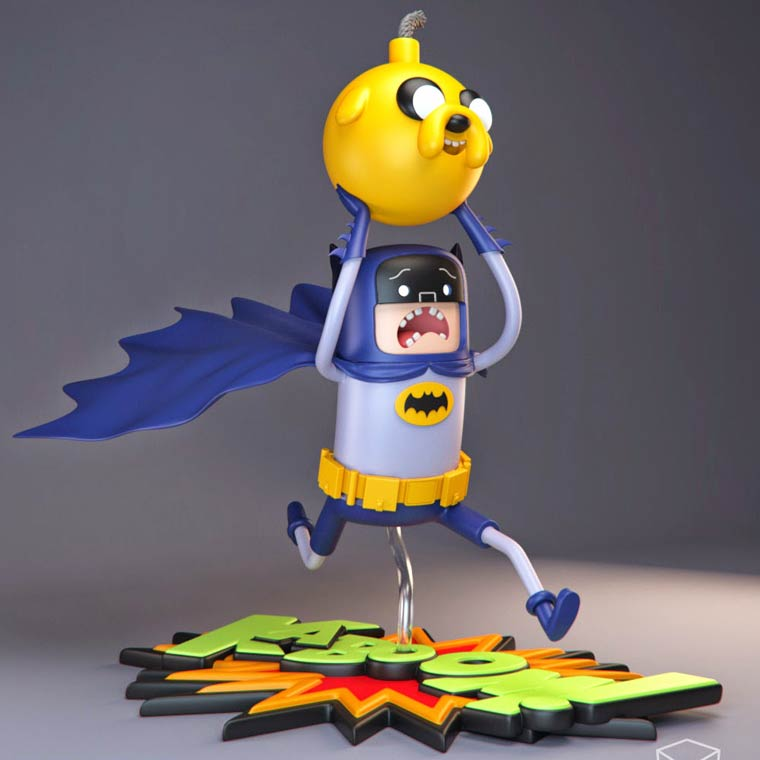 Adventure Time x Batman – Some awesome art toy concepts by Volatile Vertex (26 pics)