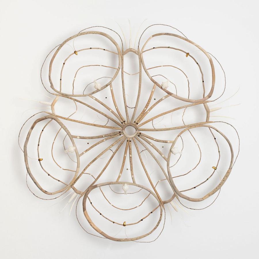 found objects mandala website nature sculpture beauty artist leaves