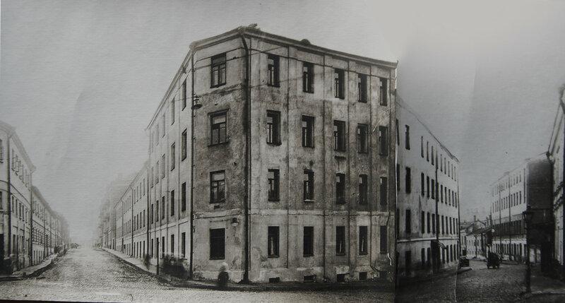 Дом-утюг на Хитровской площади. 1933 год.
