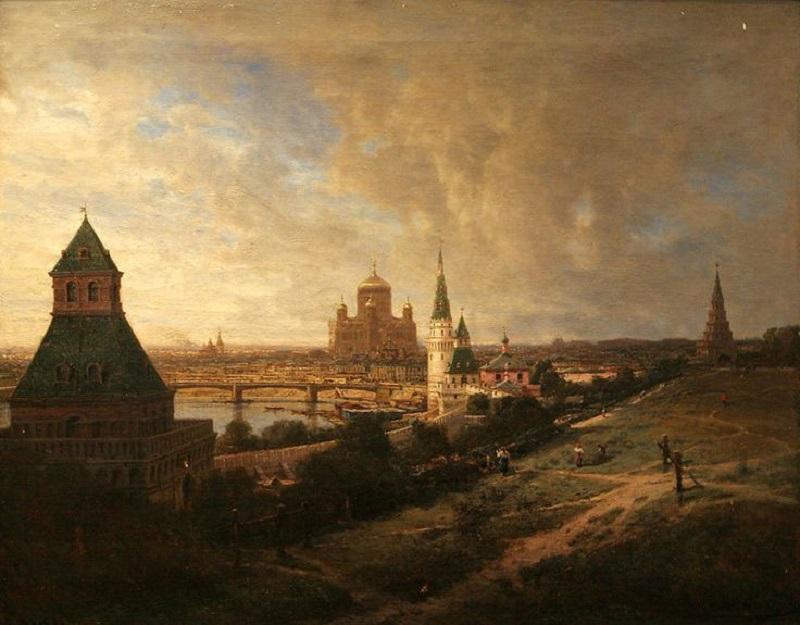 Вид на собор Христа Спасителя из Кремля, 1878.jpg