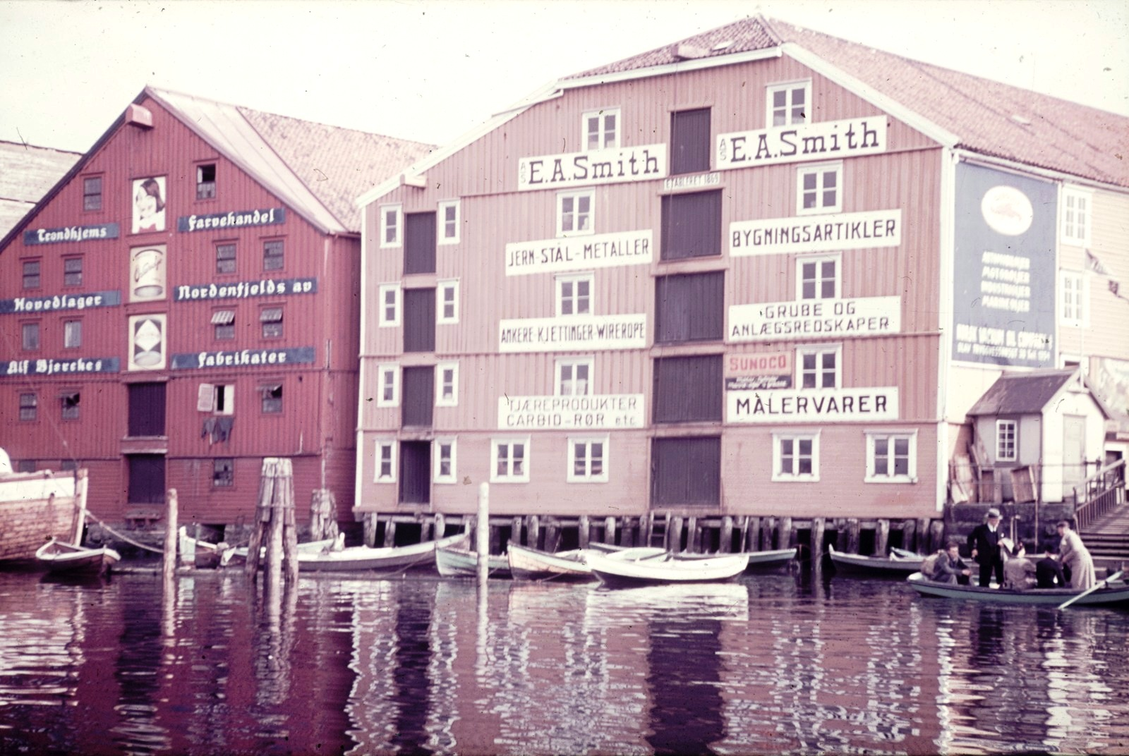 Трондхейм. Здания в гавани