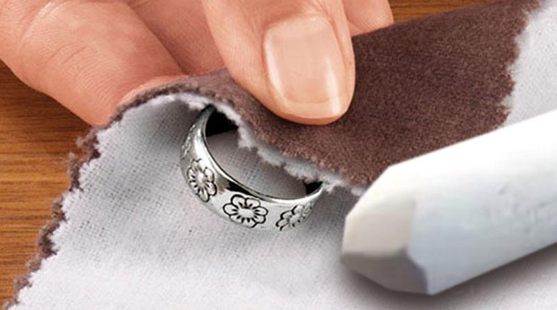 Как отполировать серебряное кольцо в домашних условиях