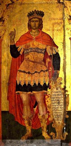 Святой мученик Гаведдай, Царевич Персидский. Старинная греческая икона.