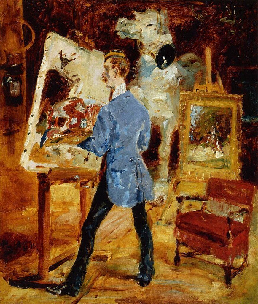 Princeteau in His Studio - 1881 - PC - Painting - oil on canvas.jpeg