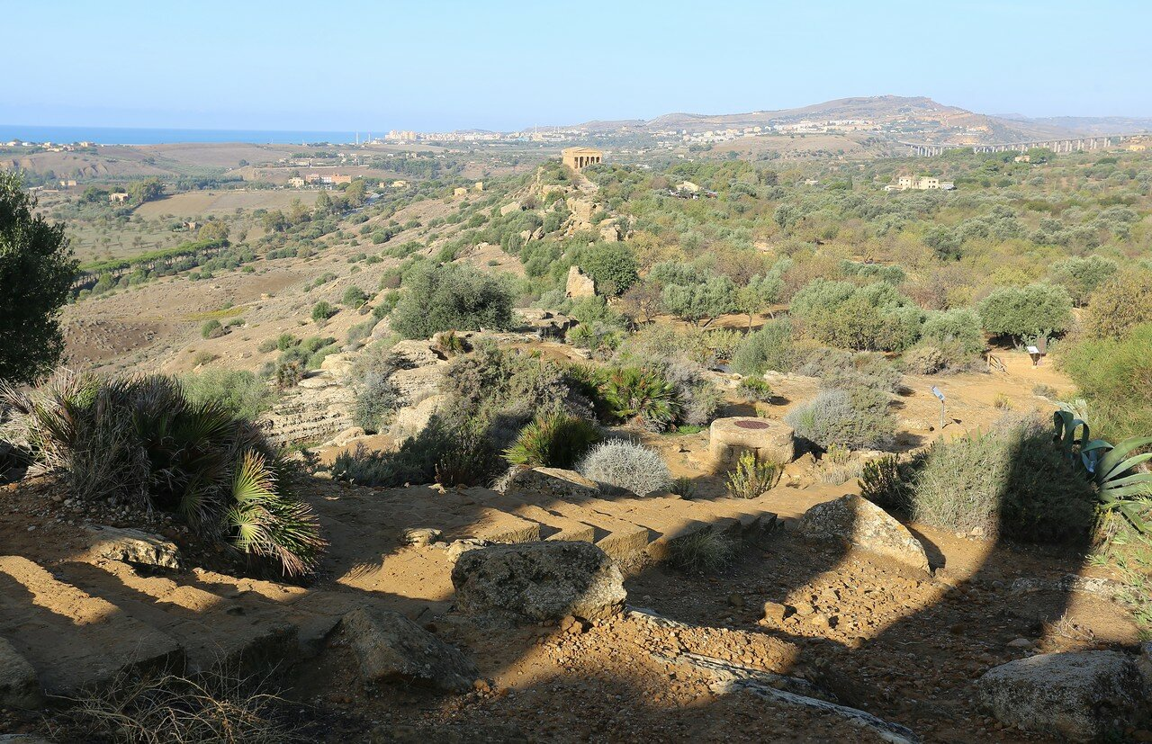 Agrigento, the Valley of the temples. The views from the hill of Juno