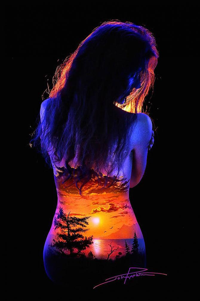 Необычные пейзажи на женских телах
