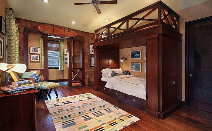 1. Роскошная спальня с двухъярусной кроватью