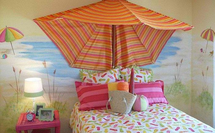 10. Микс пляжного и тропического стилей от Anita Roll Murals