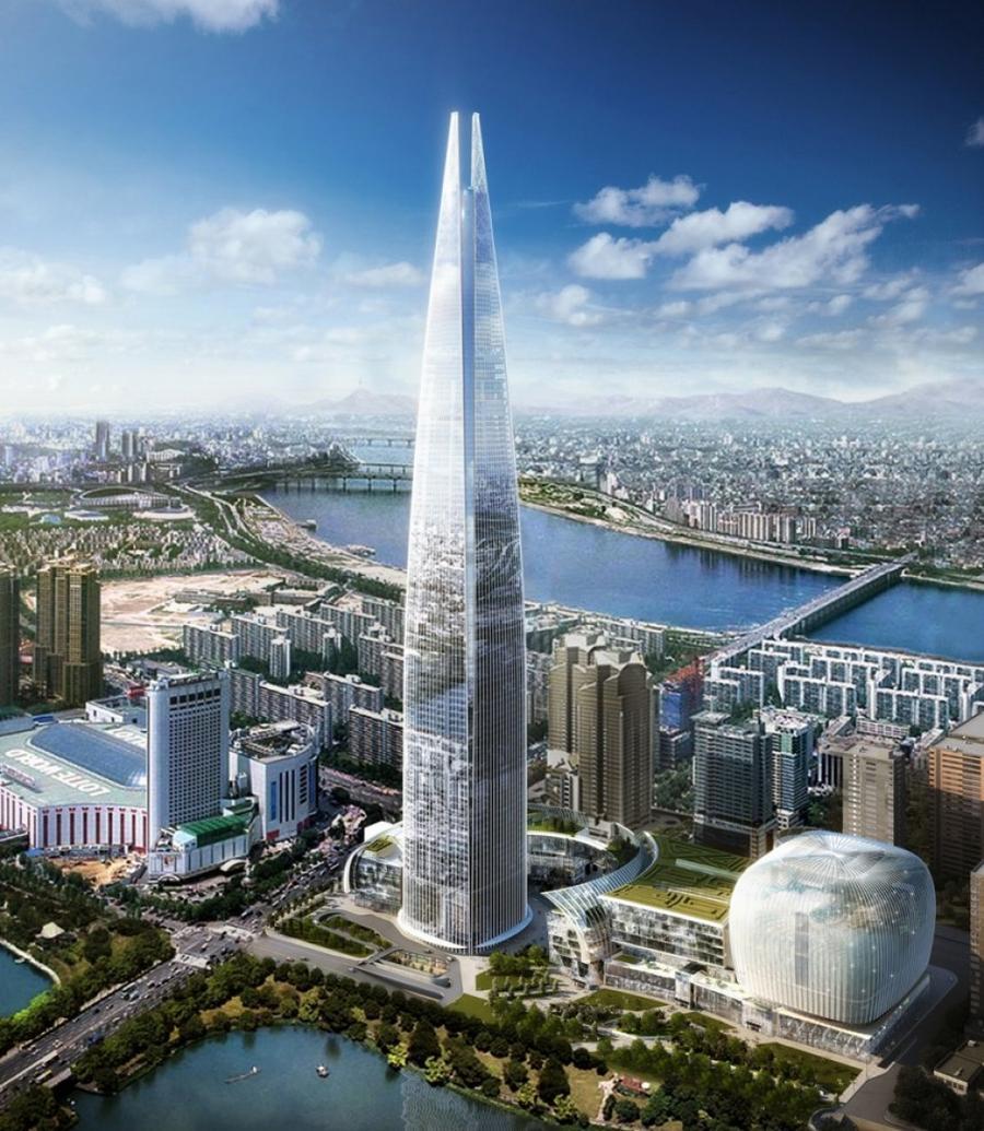 8. Lotte World Tower Это 556-метровое здание в Сеуле будет построено к 2016 году. В этом небоскребе