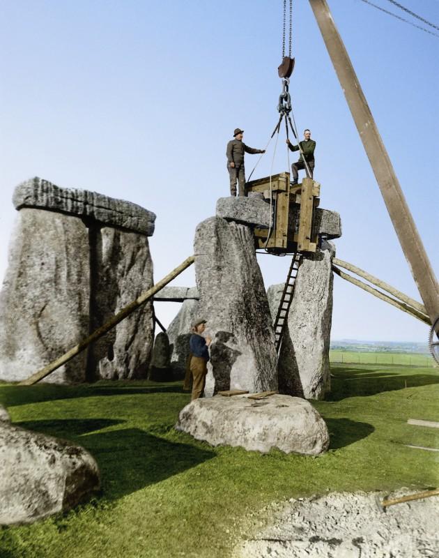 В 1918 году под командованием полковника и археолога Уильяма Хоули начались раскопки Стоунхенджа.