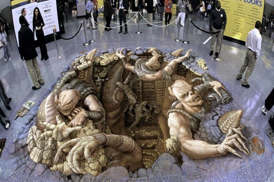 Тротуарное искусство Курта Веннера