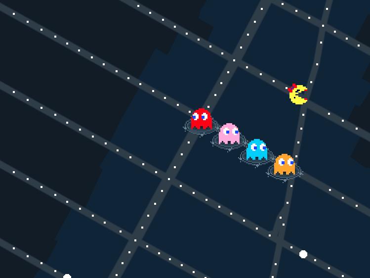 Пользователям сервиса «Google. Карты» посоветовали сыграть вMs. Pac-Man