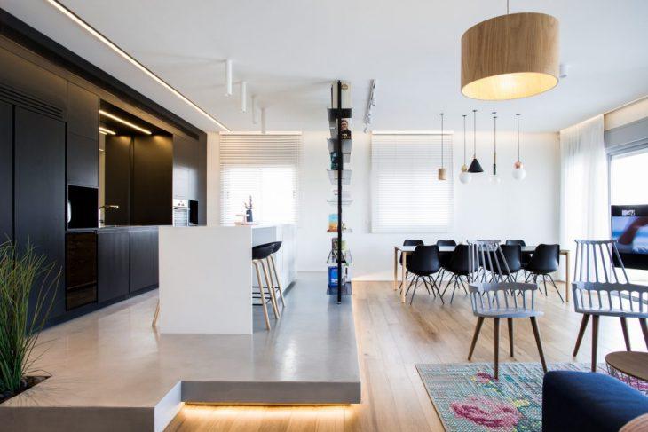 Dori Interior Design designed this modern 146 m2 penthouse apartment located in Netanya, Israel, in