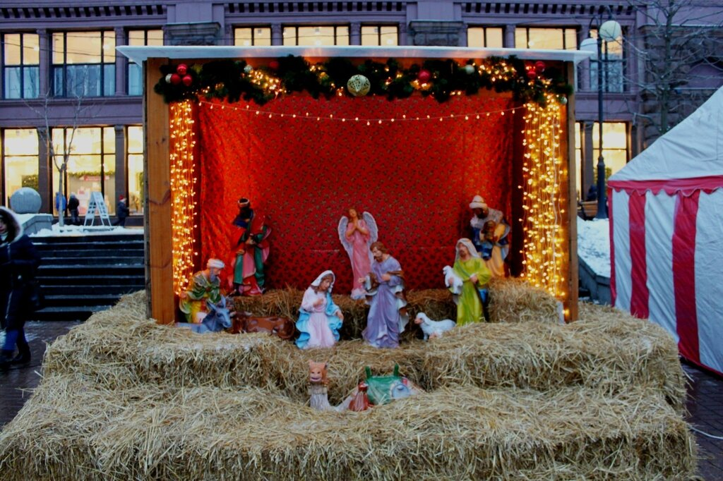 Рождественский вертеп на Крещатике