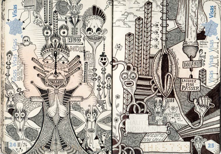 Passport Doodles - When artist Leonard Combier is having fun with his passport