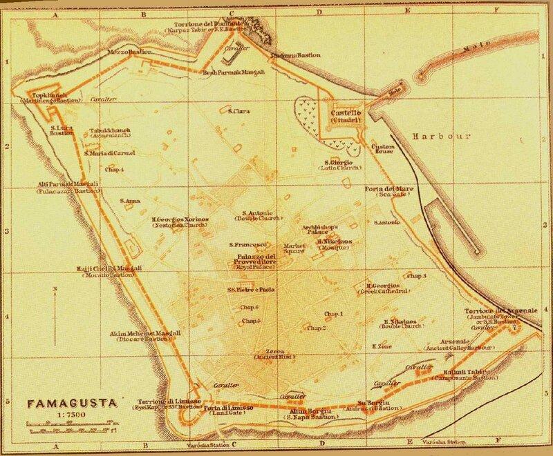 Фамагуста. Город. План 1914 года.