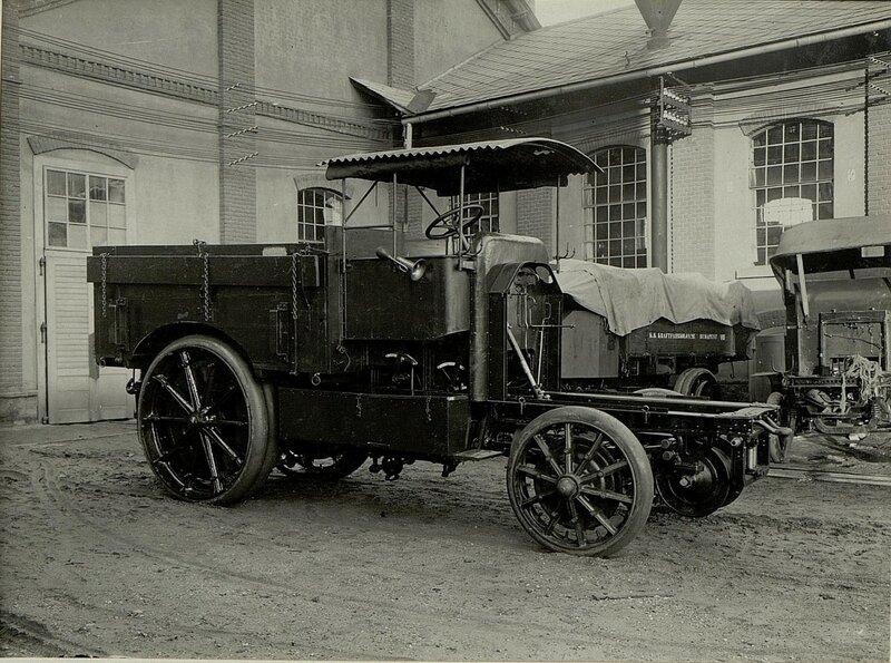 K.u.k. Kraftwagenwerkstдtte in der Cellulosefabrik Villach.