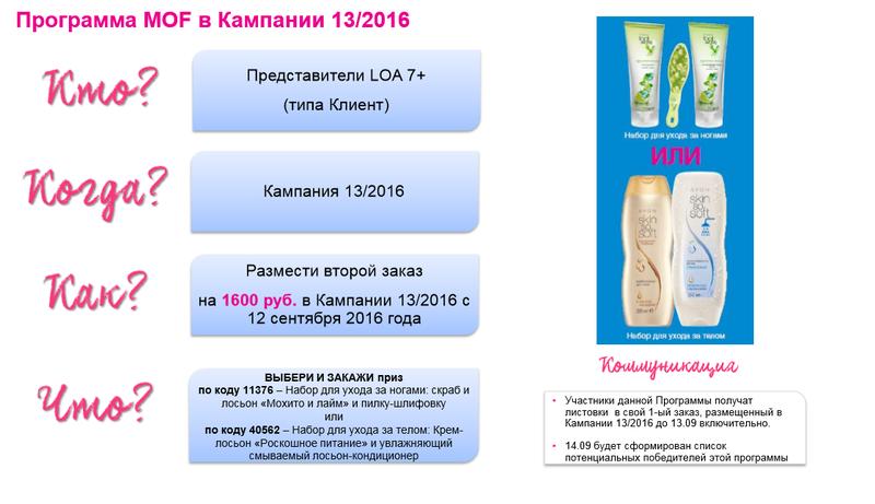 программа повторный заказ в кампании 13 2016