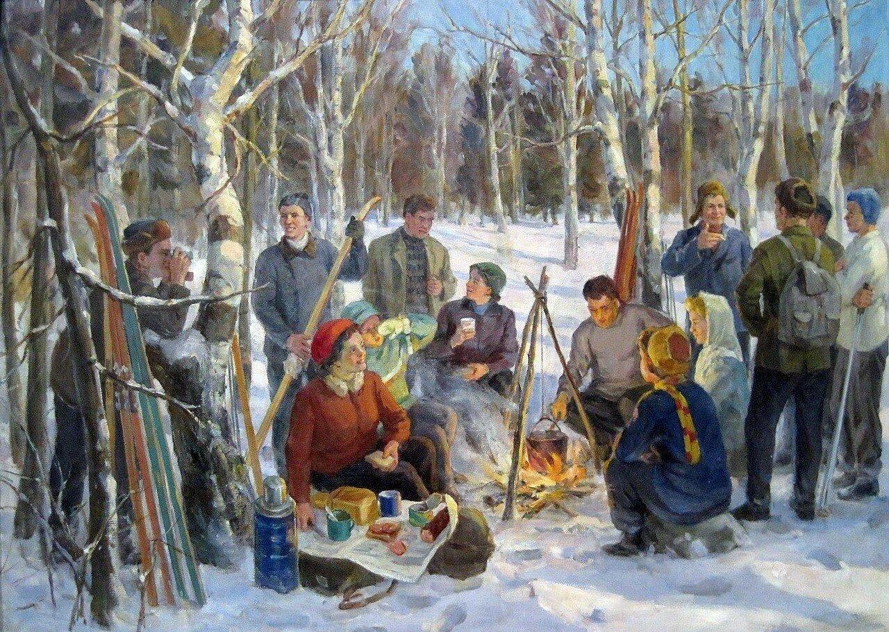 Косолапов Николай Александрович (1899-1974) У костра 1967.jpg