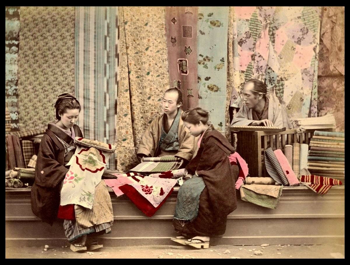 Подготовка свадебного кимоно