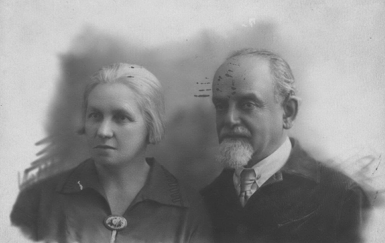 1936. Ева Лясс с мужем М.И.Гольдманом (Либером)