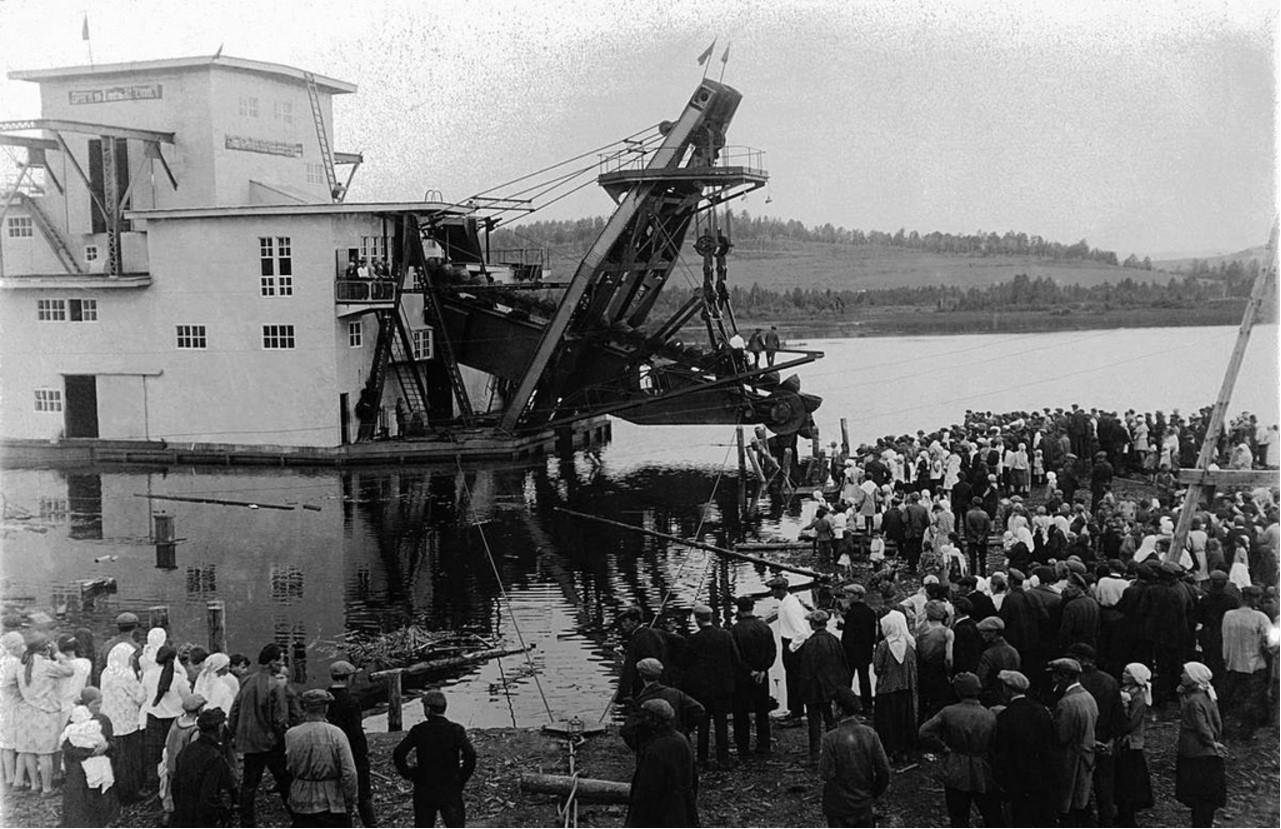 Миасс. Драга № 2 им. Ленина. 1932