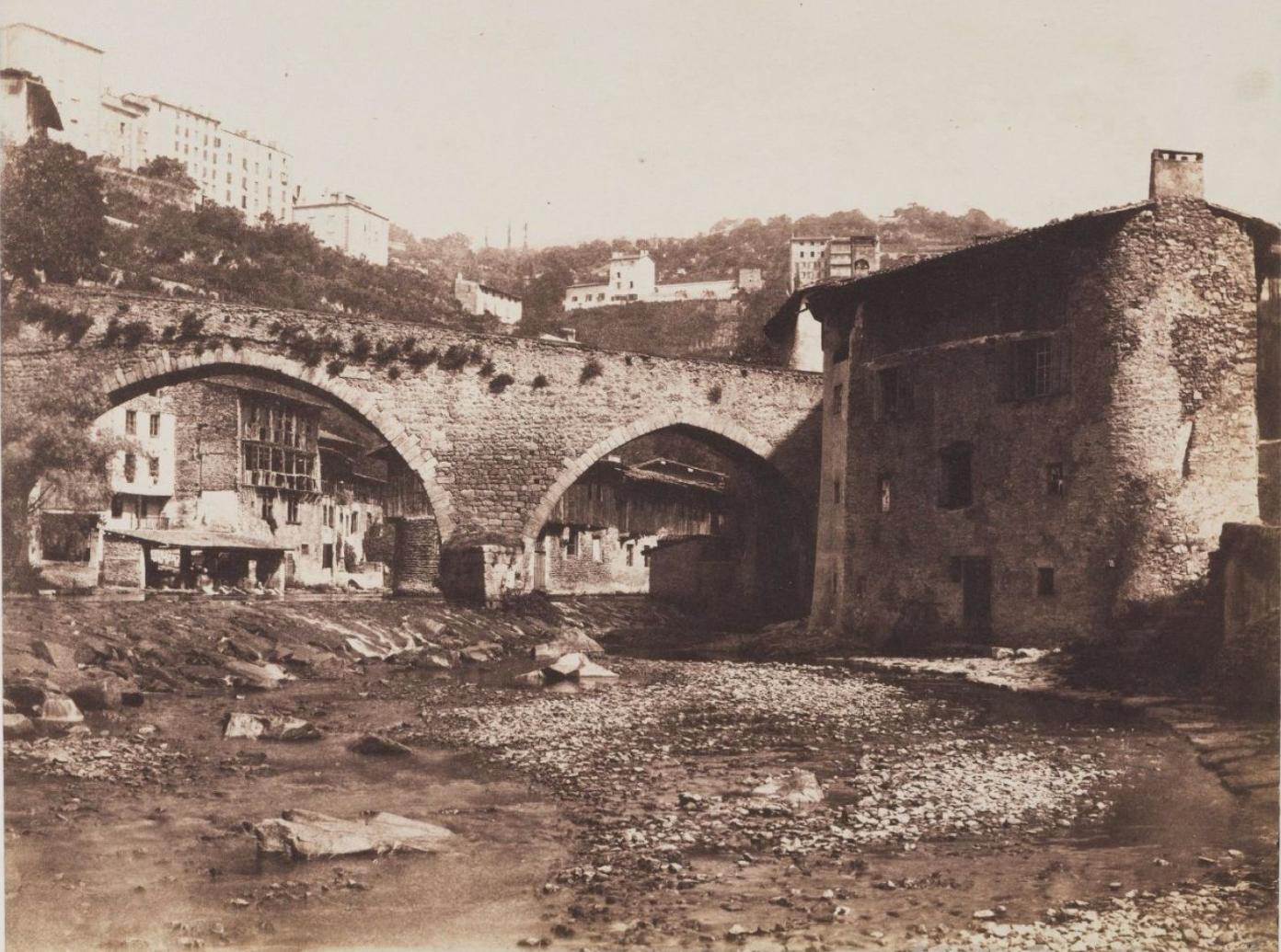 1855. Франция. Мост в округе Тьер