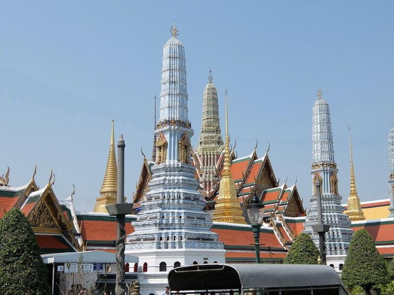 Бангкок - Вид на Храм Изумрудного Будды