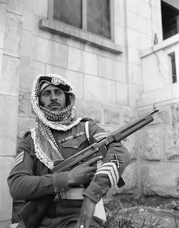 Солдат Арабского легиона в Иерусалиме. 6 января