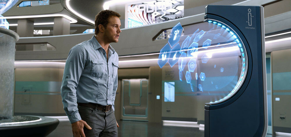 Chris Pratt stars as Jim in Columbia Pictures' PASSENGERS.