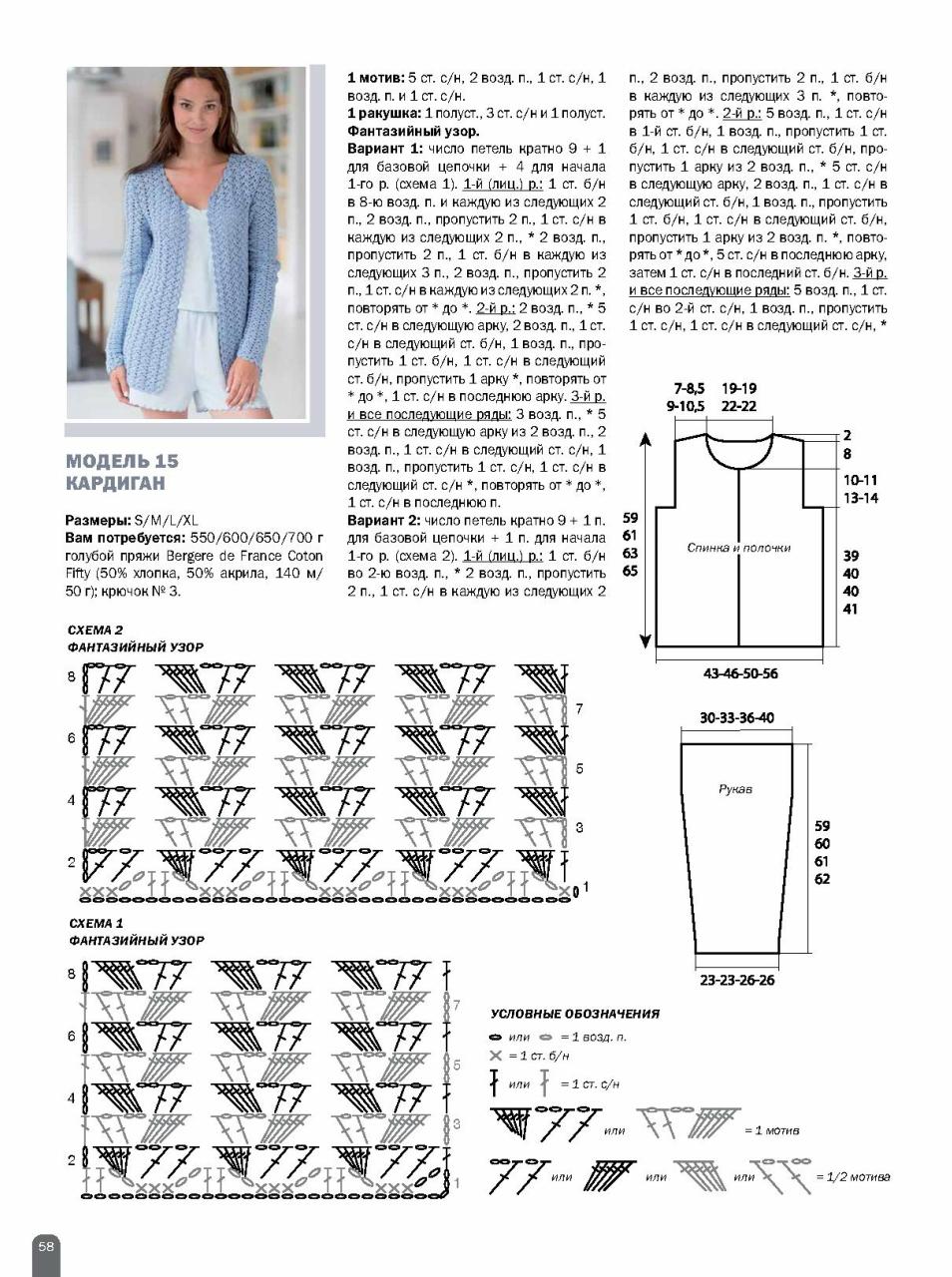 Схемы вязания кардигана крючком для начинающих с описанием 54