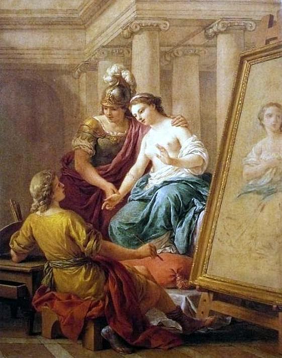 1772 Апеллес влюбляется в Кампаспу.  возлюбленная Александра Великого.Луи Жан-Франсуа ЛАГРЕНЕ.jpg