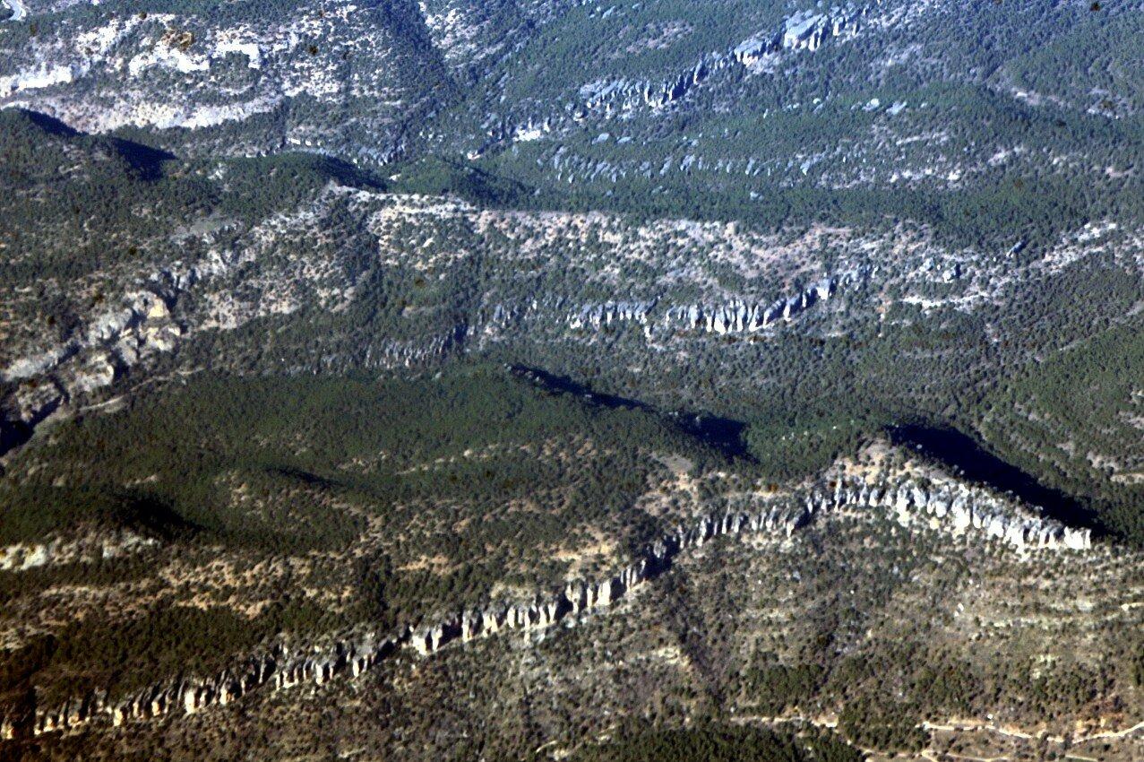 Скалы Паланкарес, вид с самолета