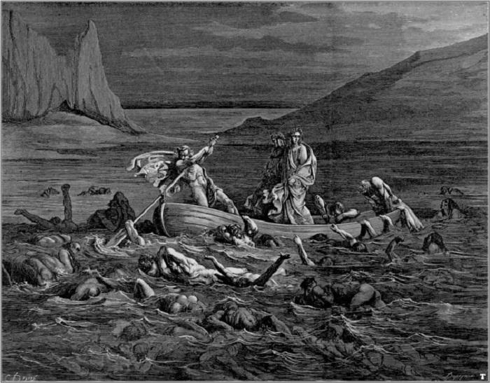 6-й круг — Еретики и лжеучителя. Этот круг сторожат фурии. Наказание: мучиться в раскаленной могиле.