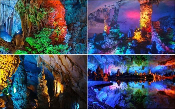 Тростниковую пещеру в Гуйлине называют природным дворцом. Все настолько шикарно и прекрасно здесь, ч