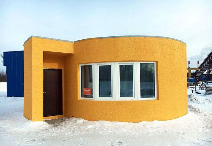 До чего дошел прогресс. Дом, напечатанный на 3D-принтере (8 фото)