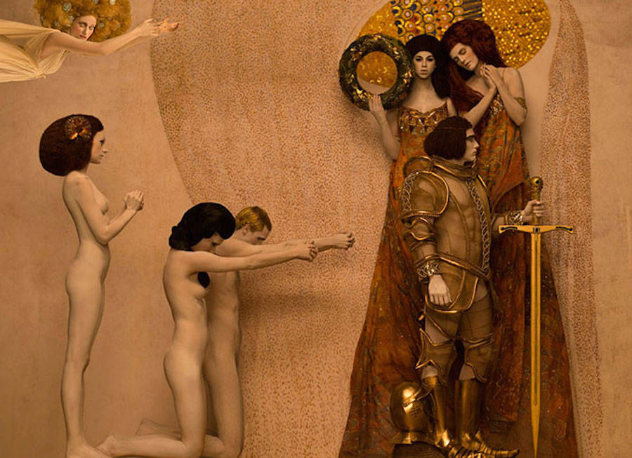 Реальные модели воссоздали знаменитые картины Густава Климта