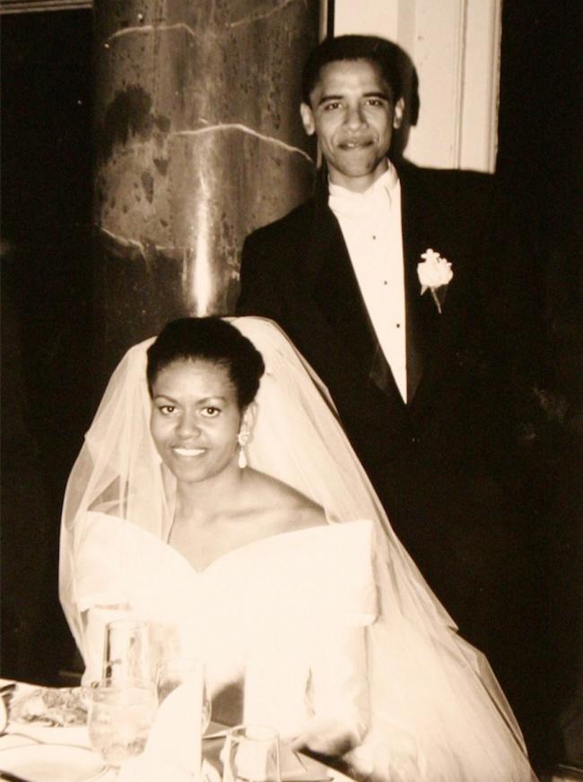 © Eastnews  СМишель ЛаВон Робинсон, своей будущей женой, Барак Обама познакомился вовремя ст
