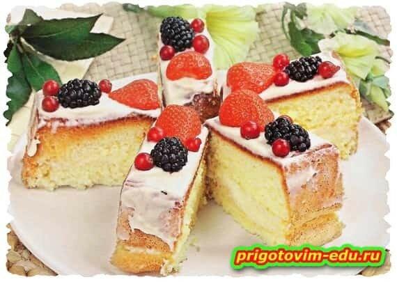 Пирожные бисквитные многослойные