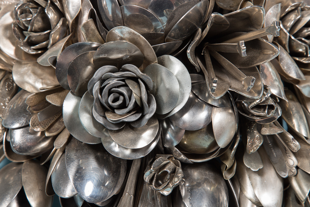 Overflowing Bouquets Built From Hundreds of Spare Utensils