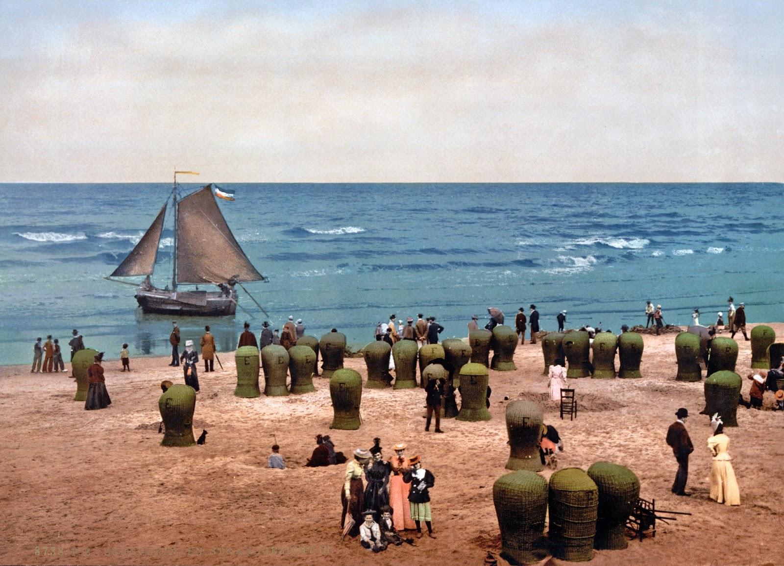 The beach, Scheveningen, Holland2, ca. 1890-1900.jpg