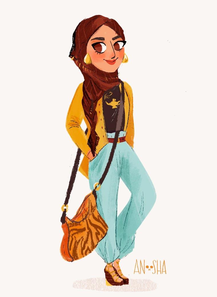 Modern Princesses - The modern versions of famous Disney Princesses