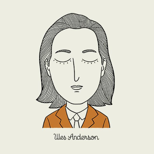 Os personagens de Wes Anderson em ilustracoes